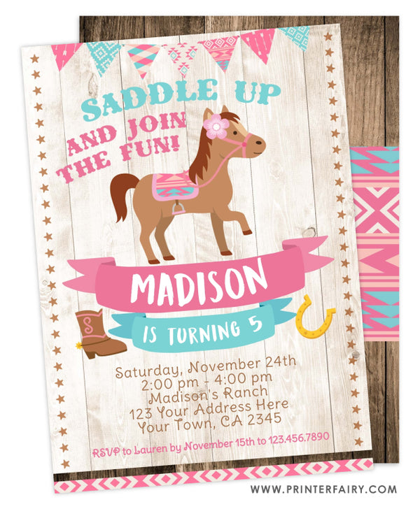 Pony Birthday Invitation