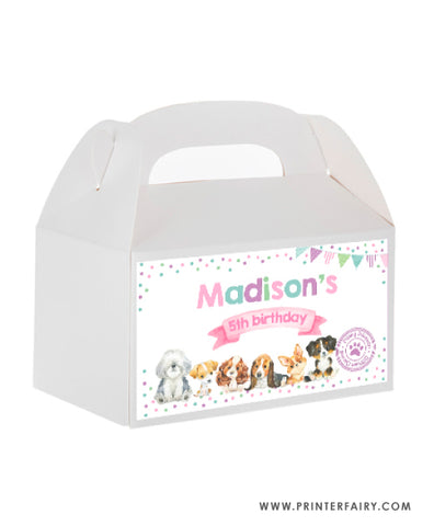 Puppies Box Carrier Label