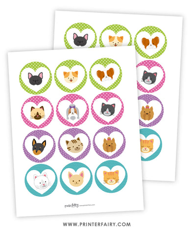 Puppies & Kitties Party Toppers