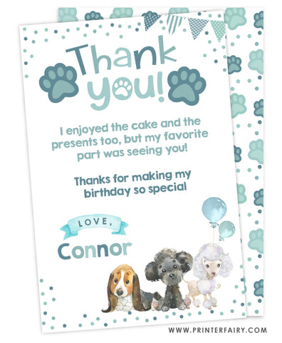 Puppies Thank You Cards