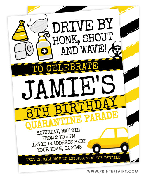 Quarantine Birthday Invitation