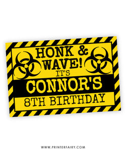 Quarantine Honk & Wave Sign