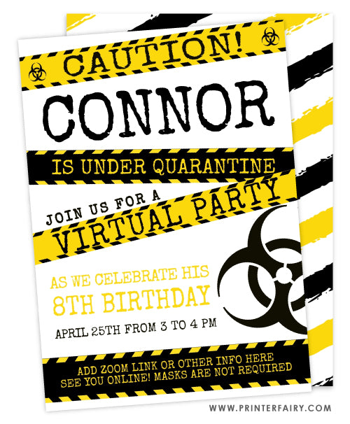 Quarantined Birthday Invitation