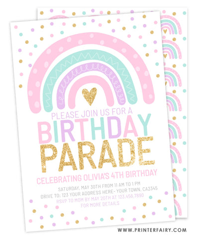 Rainbow Birthday Parade