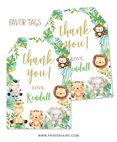 Safari Favor Tags