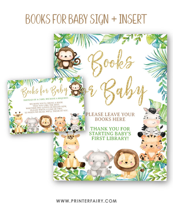 Safari Baby Shower Bundle