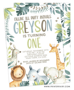 Jungle Birthday Invitation