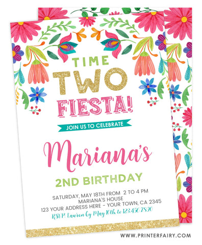 Floral Birthday Fiesta - Two