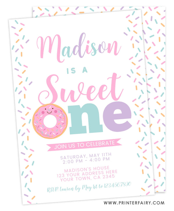 Sweet One Birthday Invitation