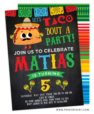 Taco Birthday Party Invitation