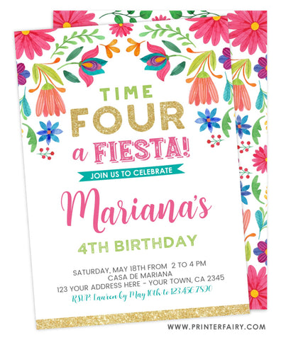 Floral Birthday Fiesta - Four