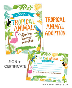 Tropical Animal Adoption Pack