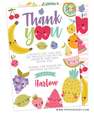 TuttiFrutti Birthday Thank You Card