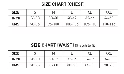 Size Guide For Men