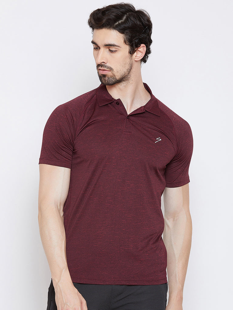 T-shirt Polo 3402 Wine - NFSporTech