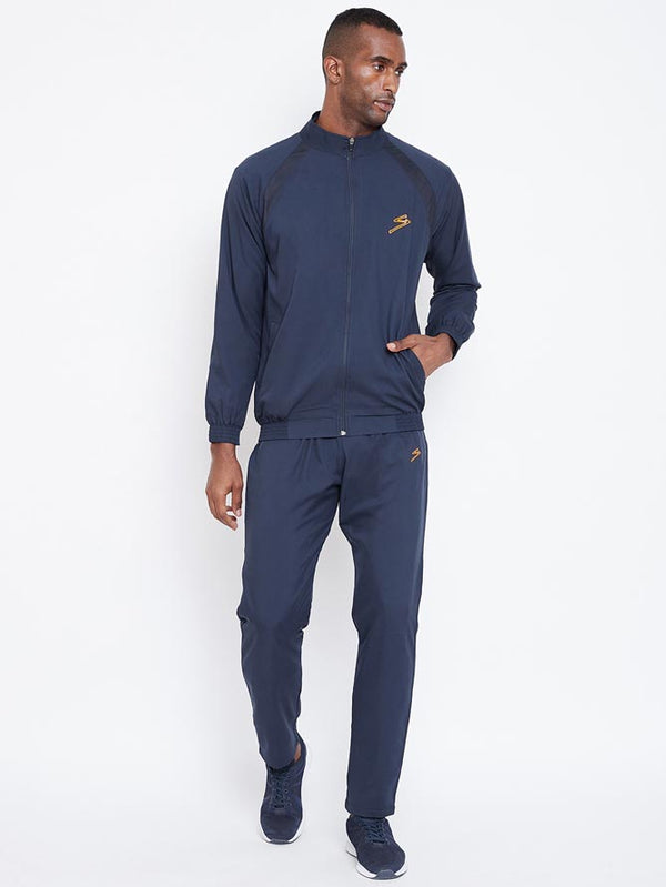 Track Suit SG Men MTSU028 Navy/Orange-SG - NFSporTech