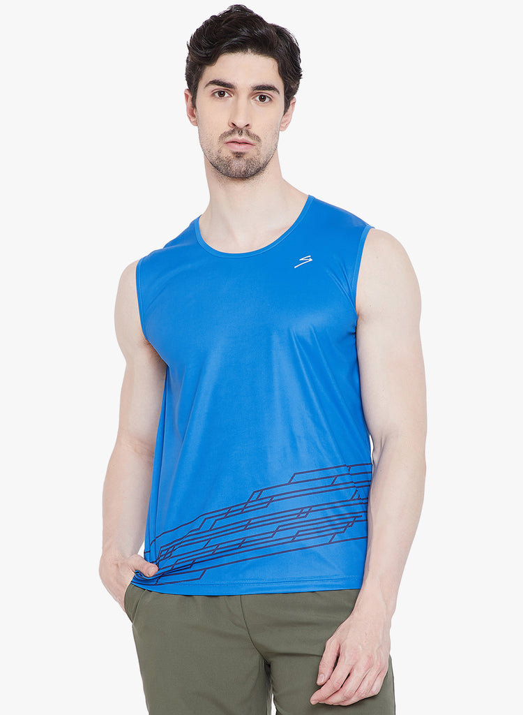 Running Vest TV1102 India Blue - NFSporTech