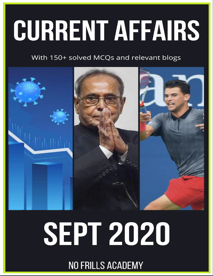 Current Affairs by NFA - September 2020