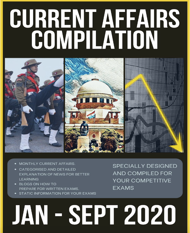 CDS Special! Current Affairs by NFA - 9 months' (Jan-Sept) 2020