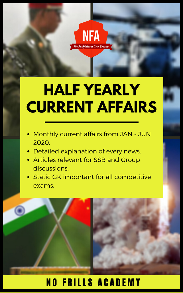 Jan-July Current Affairs by NFA - 2020
