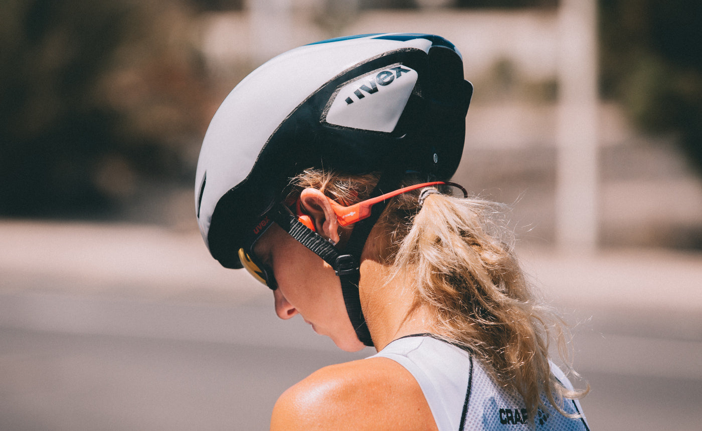 Cycling with AfterShokz headphones