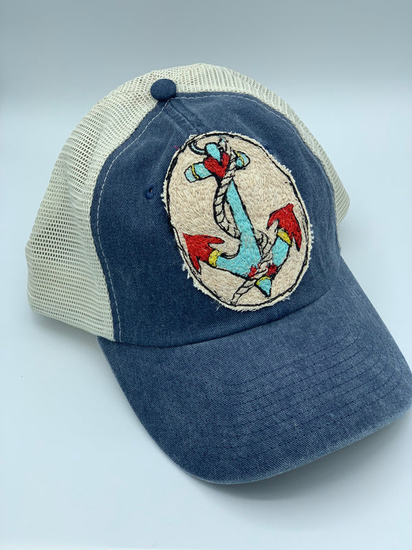 Blink Blink Trucker Hat, Anchors Away 103
