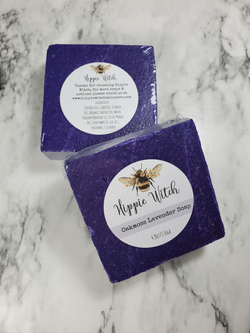 Hippie Witch Skincare, Oakmoss and Lavender Scrub Soap