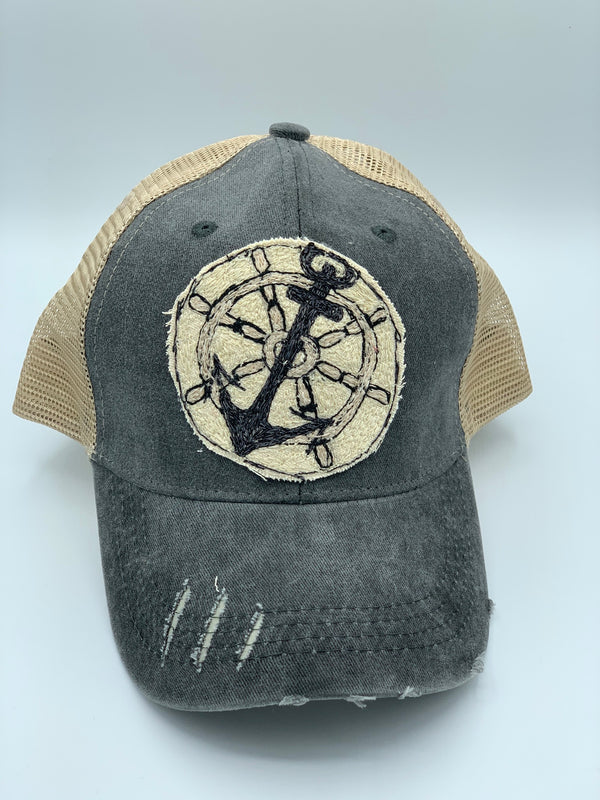 Blink Blink Trucker Hat, Anchors Away 110