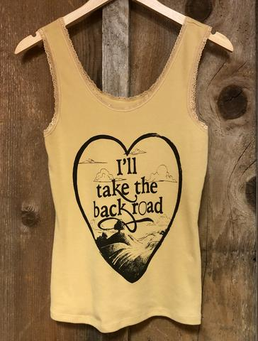 Bandit Brand Women's Lace Tank - I'll Take the Backroad