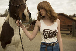 Bandit Brand Women's Lace Tank - Horse Power