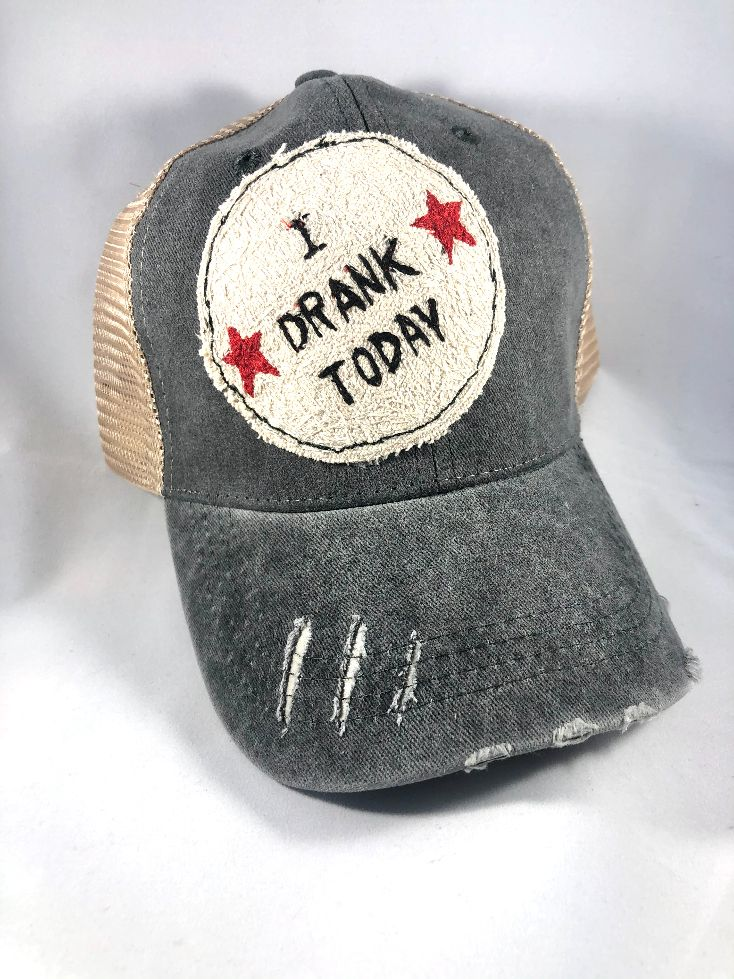 Blink Blink Trucker Hat, I Drank Today