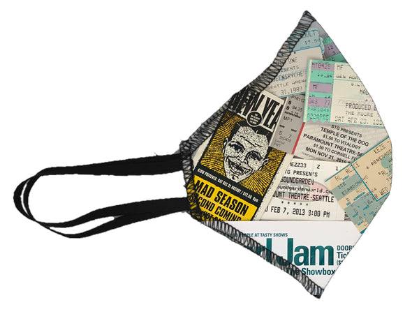 Seattle Music Scene Ticket Face Mask