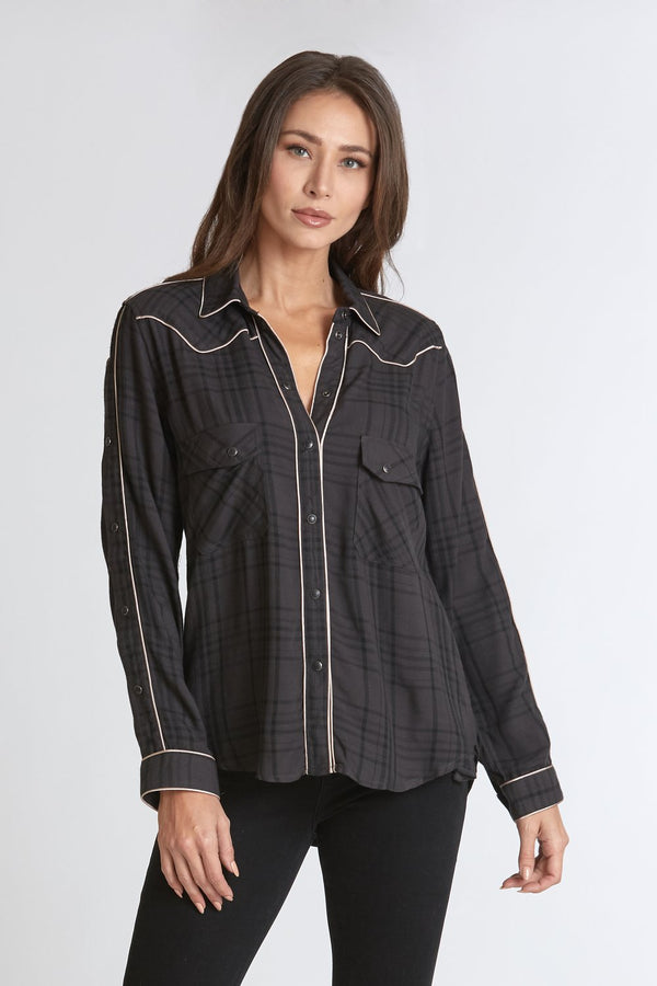 Dear John Women's Star Western Style Shirt, Shadow