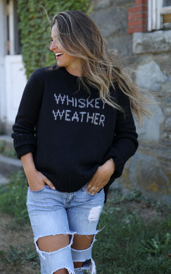 Wooden Ships Women's Whiskey Weather Crew Neck Sweater