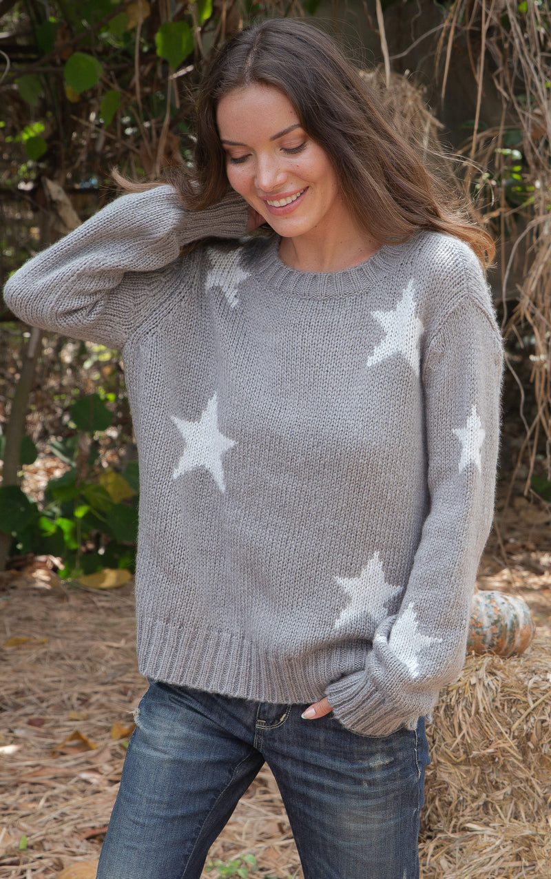 Wooden Ships Women's Nova Star Chunky Crew Neck Sweater