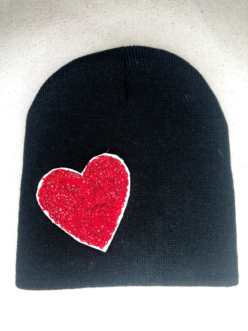 "Blink Blink Beanie - ""RED HEART"""