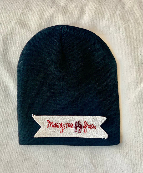 "FLY Beanie - ""MARRY ME FLY FREE"""