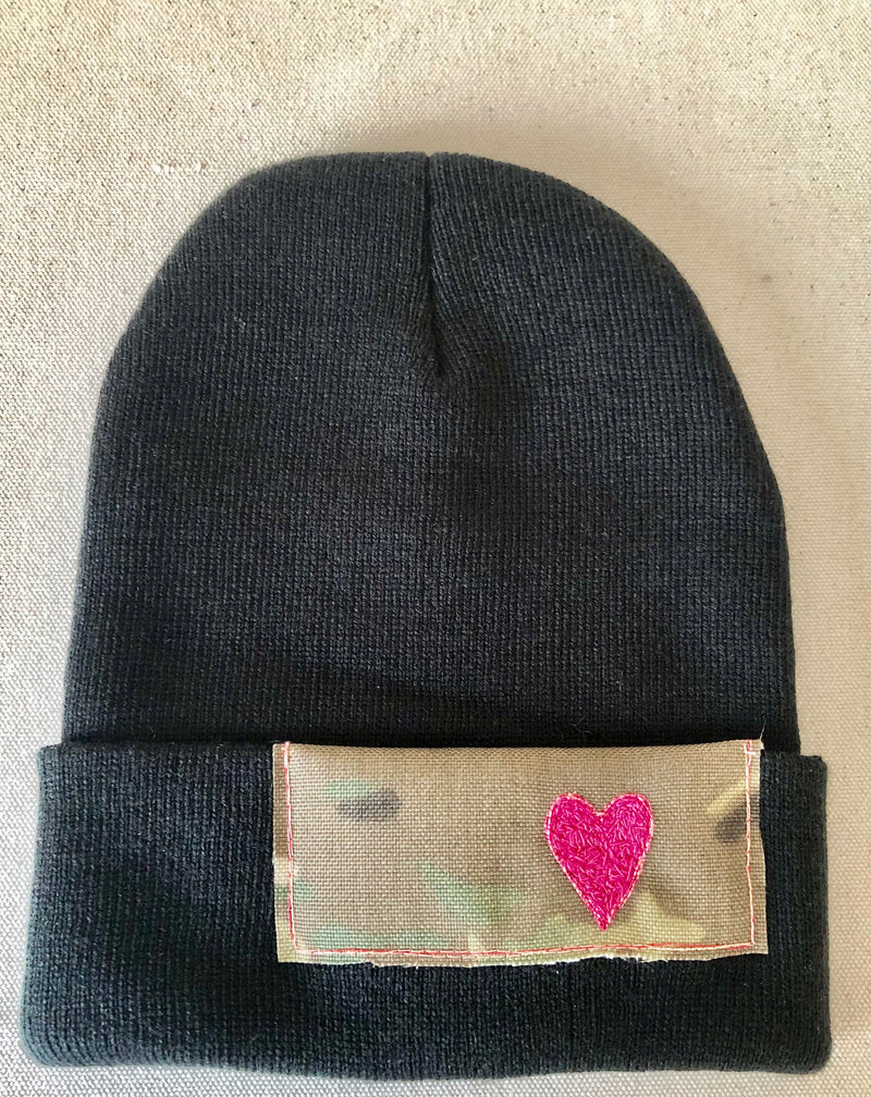 "Blink Blink Beanie - ""One Beat of my Pink Heart"""