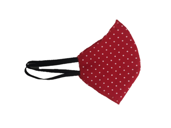 Howard & Marge Face Mask, Dot Red