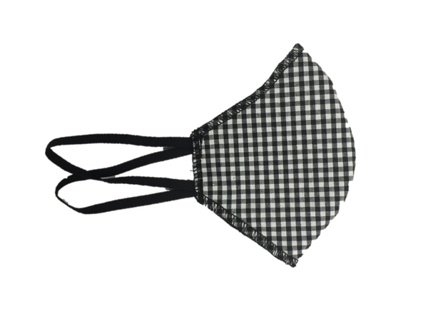 Howard & Marge Face Mask, Gingham Black