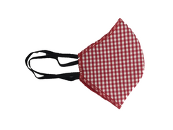 Howard & Marge Face Mask, Gingham Red
