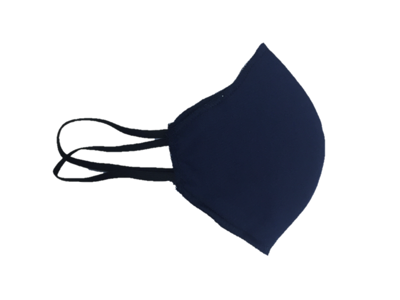 Howard & Marge Face Mask, Solid Navy