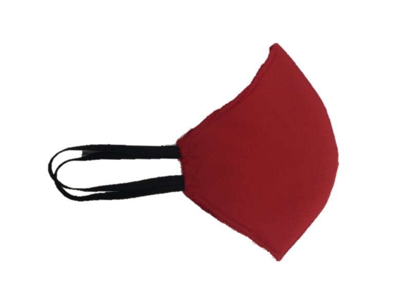 Howard & Marge Face Mask, Solid Red