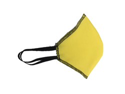 Howard & Marge Face Mask, Solid Yellow