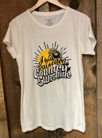 Bandit Brand Women's Tee - Raised on Country