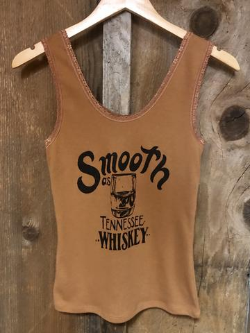 Bandit Brand Women's Lace Tank - Smooth As Tennessee Whiskey Lace Tank