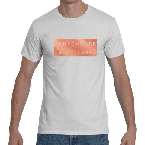 "White ""CONFIDENCE IS MY LABEL"" T-Shirt"