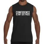 "Black ""CONFIDENCE IS MY SIX PACK"" Sleeveless T-Shirt"