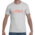 "White ""MY CONFIDENCE GOES DEEP"" T-Shirt"