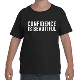 "Kids - Black ""CONFIDENCE IS BEAUTIFUL"" T-Shirt"